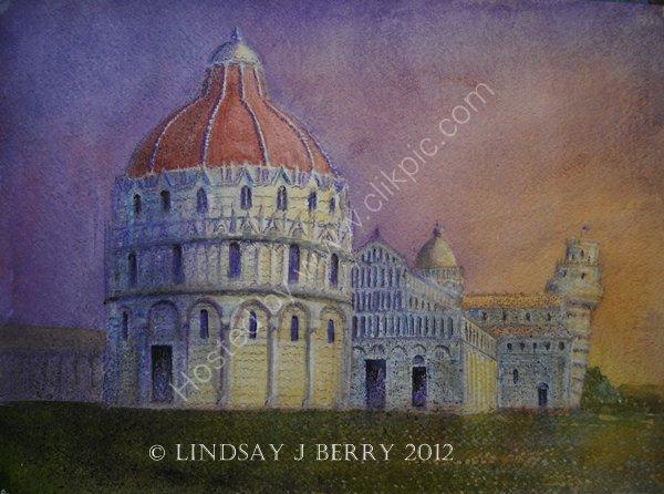 Pisa at Sunset