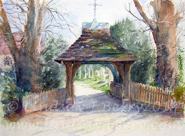 Lychgate At St Andrews Church, Sherborne St John
