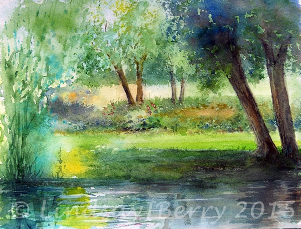 Sunlit Banks of the Wey SOLD