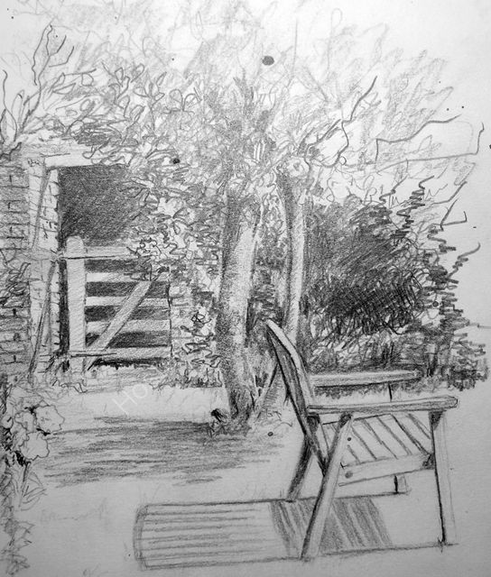Approaching the Bench sketch
