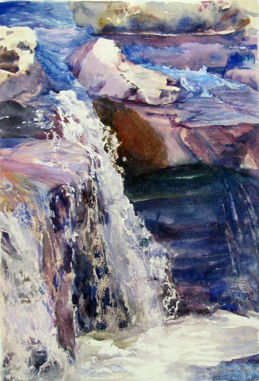 Waterfall in Blue