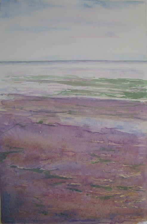 Sandsend in Purple