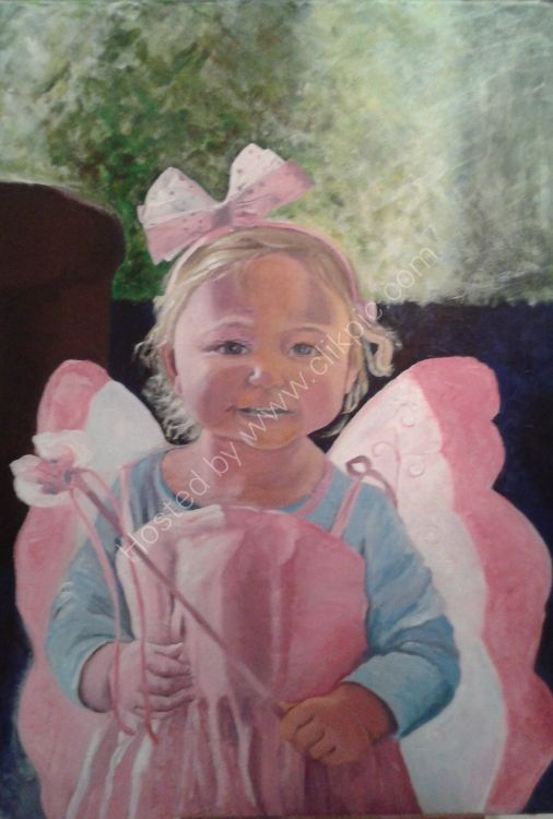 Portrait in acrylic paint. Commissions available.