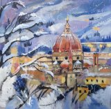 Florence in the snow - available as a limited edition print