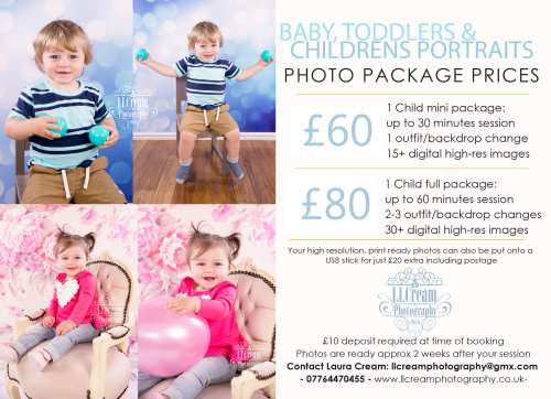 Baby, Toddler & Children's portrait packages