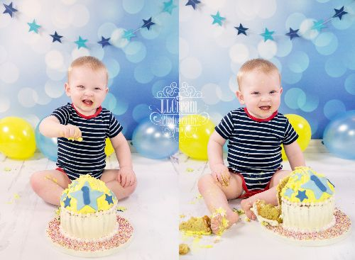1st birthday cake smash fun!