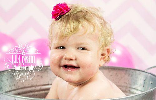 Bailey Leigh 1st Birthday Cake Smash 2014