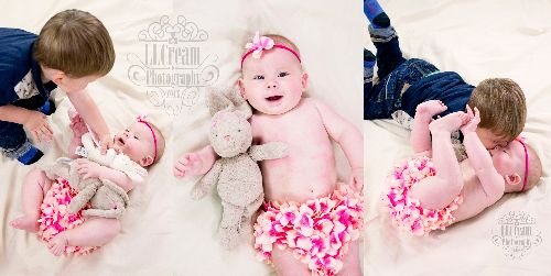 Big brothers always love to join in on a newborn & baby shoot!