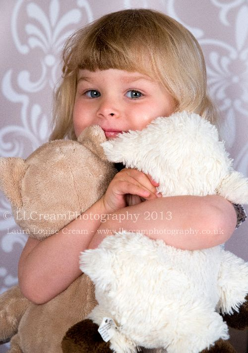 Ella loves her bears!