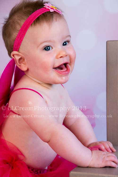 Beautiful Mia all accessorised in my hot pink baby tutu, wings & headband!