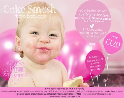 Cake Smash! - Personalised Giant CupCake + 40 hi res images only £120