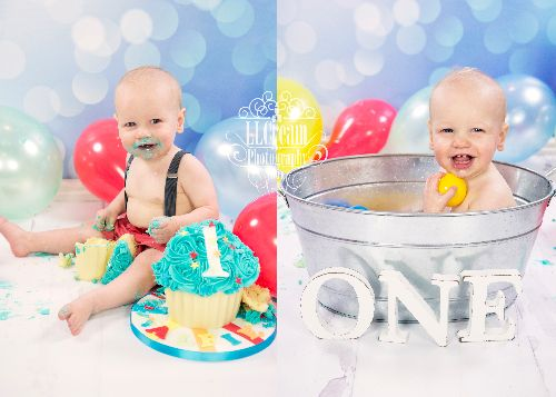 what gorgeous colours! & we always end our cake smash packages with a tin bath to wash off!