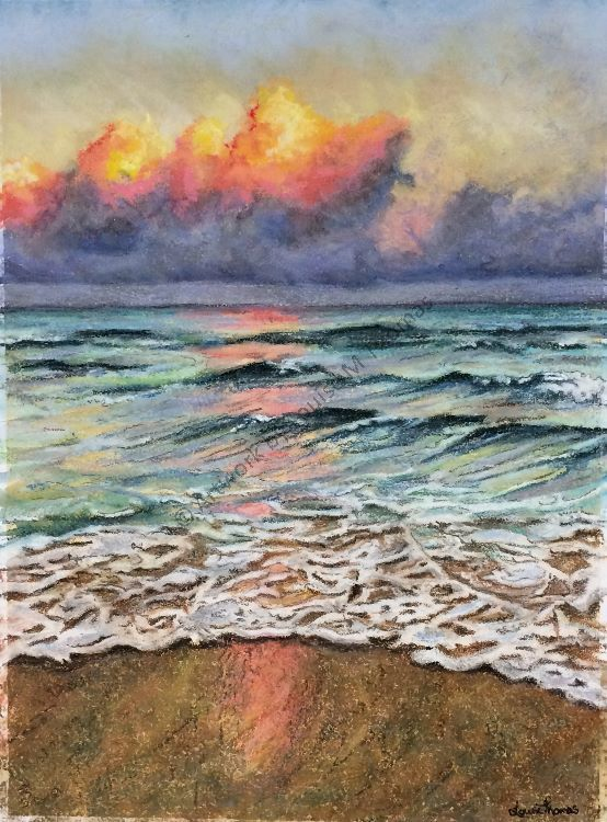 Coral sunset (SOLD)