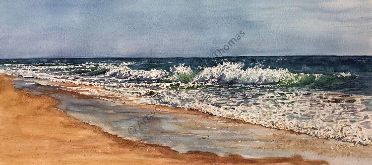 QDL shoreline watercolour