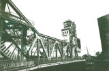 Rolling bascule bridge