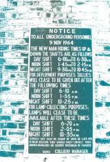 Coal mine sign