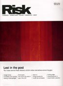 Risk Magazine front cover showing Rapture (two reds no.2)