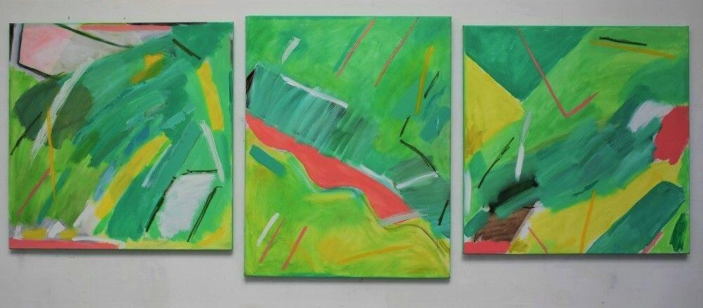 'Aerial View' (triptych 101 x 267cm each canvas)