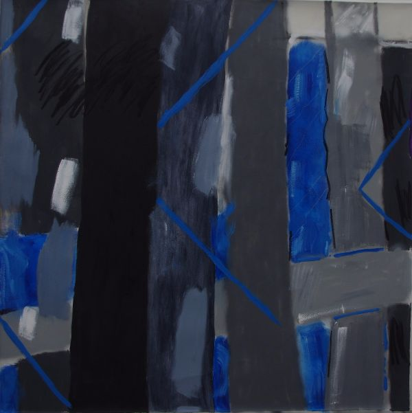 Between The Blue ( 5'  x 5' /  152 x 152 cm)