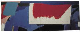 "Blue Heat (4'6"" x 12' hinged / 137 x 336 cm )"
