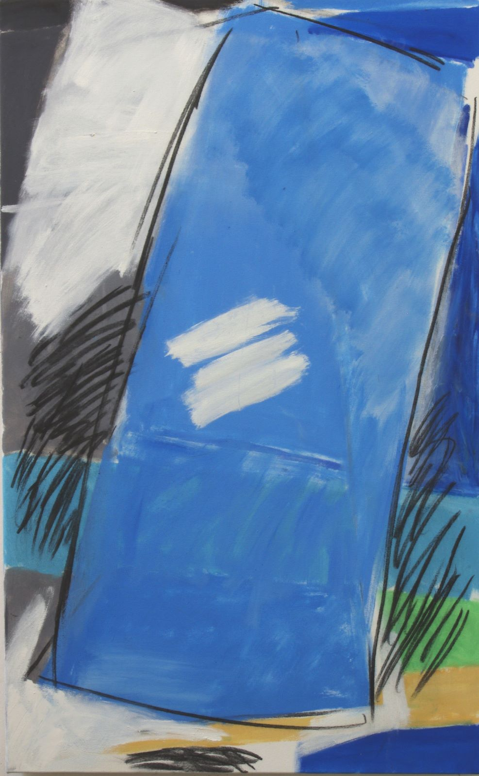 "Blue Topple ( 3'9"" x 2'4"" / 155 x 71 cm )"