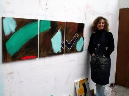 Brown triptych studio 2011