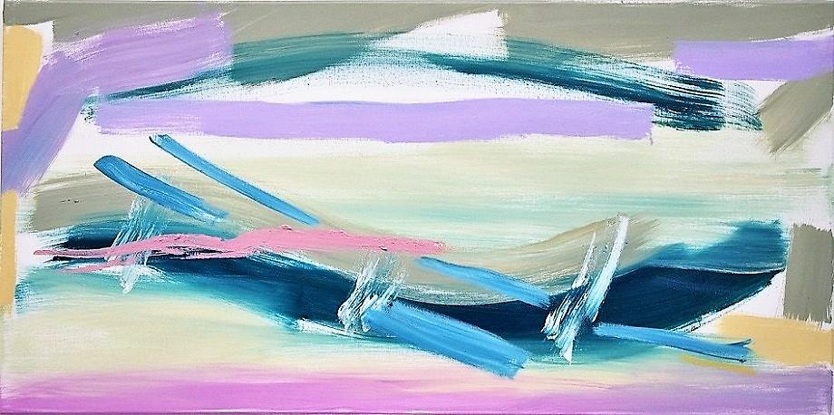 """Ocean(1'8"""" x 3'3"""" / 50 x 100 cm)"""
