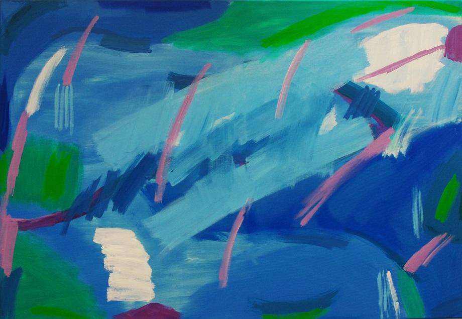 """Rainy/Sea (3' x 4'4"""" / 91 x 132 cm)"""