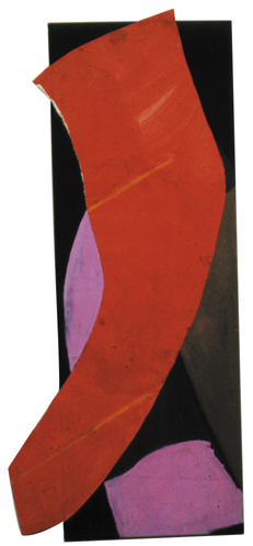 "Red Shape That's All  ( 7' x 2'6"" / 213 x 76 cm )"