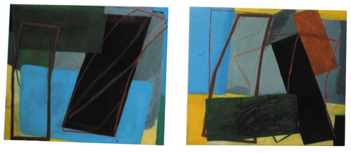 "Red Yellow Blue Green – An English Summer ( 5'2: x 6'2"" each / 158 x 188 cm each)"