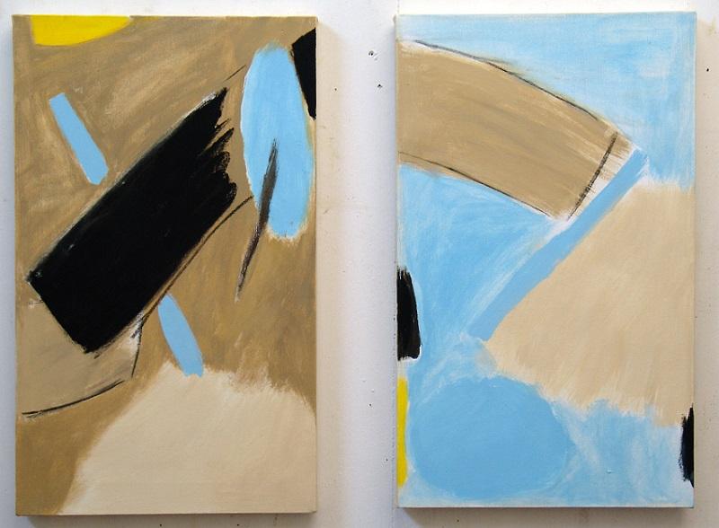 """Sea and Sand (27"""" x 16"""" each / 70 x 42 cm each)"""