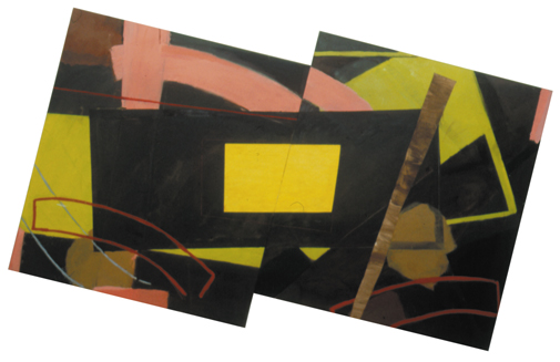 "Spain - Double Vision ( 5' x 5'6"" each, total width 11' /  153 x 335 cm total)"