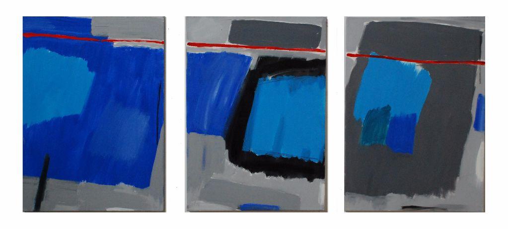 """Thin Red Line (27.5"""" x 19.5"""" / 70 x 60 cm each)"""