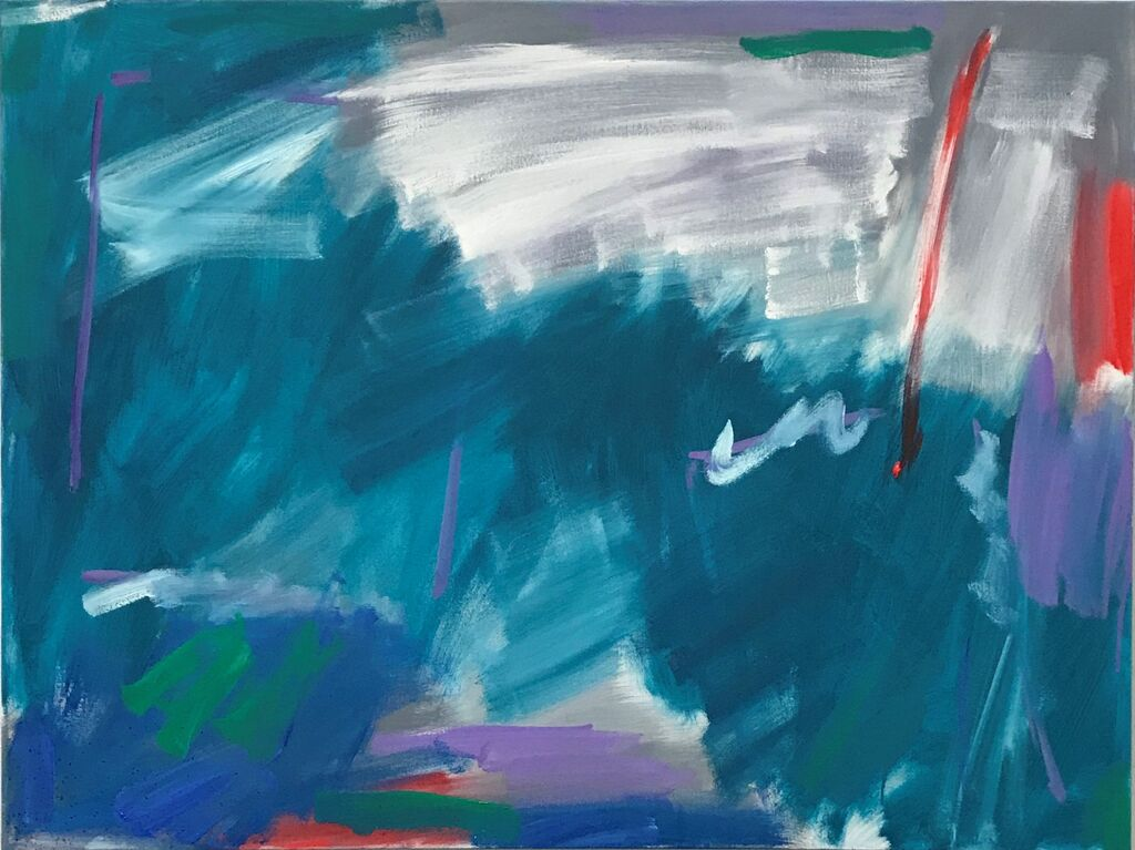 'Wind' (oil on canvas, 78 x 101 x 4 cms)