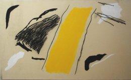 Yellow band' (3' x 5' / 91 x 152 cm)