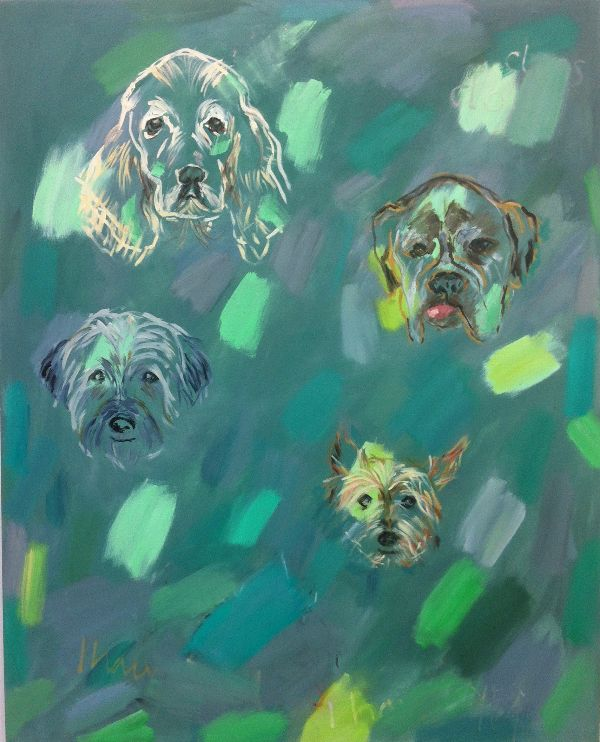 All The Dogs I Have Loved ( 5' x 4' / 152 x 122 cm)