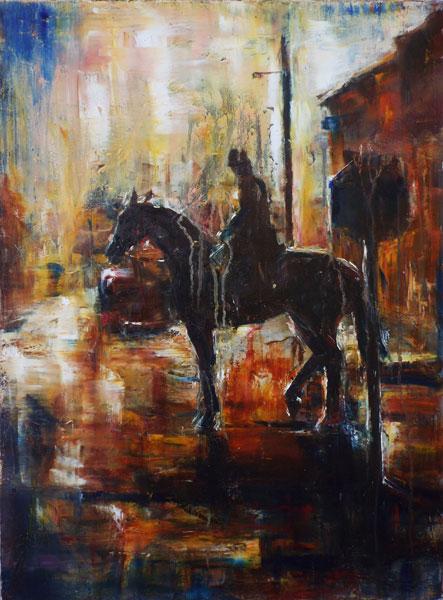 Horse,Street, Rider