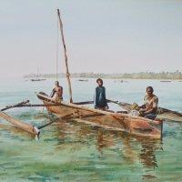 Fishermen on ngalawa