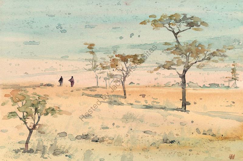 Pale dry landscape