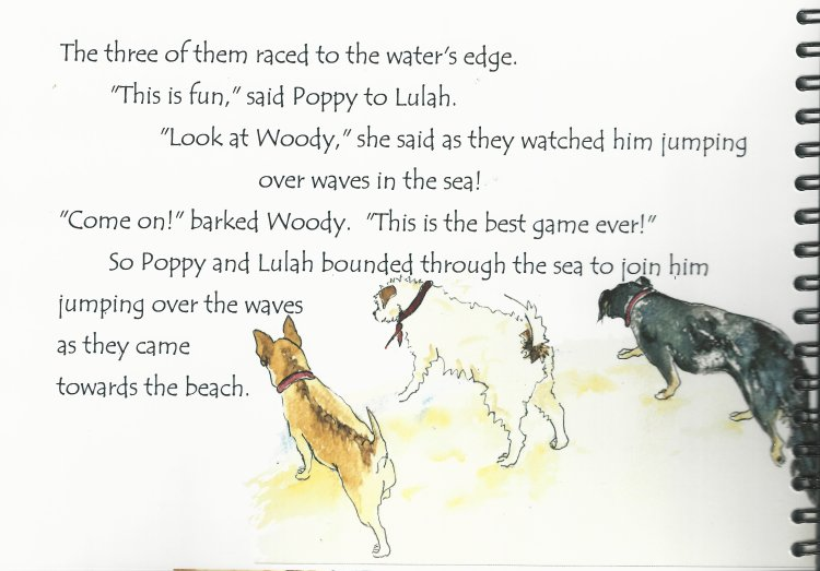 The Treflach Troop go to the Seaside, page excerpt