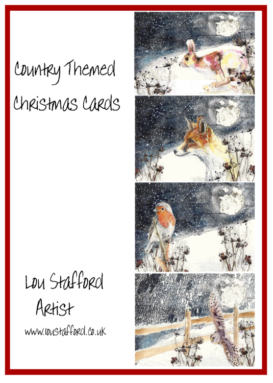 Wildlife Christmas Cards. Pack of 4 designs