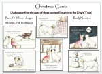 Doggy Christmas Cards.              Pack of 6 cards