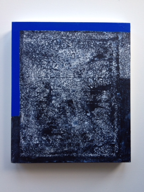 blue inclined 30x36cm