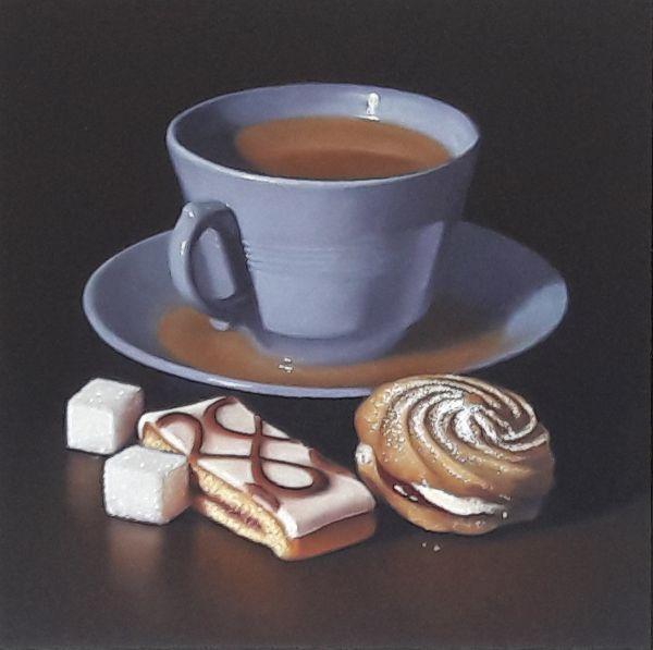 blue teacup with mr kipling cakes 2 (sold)