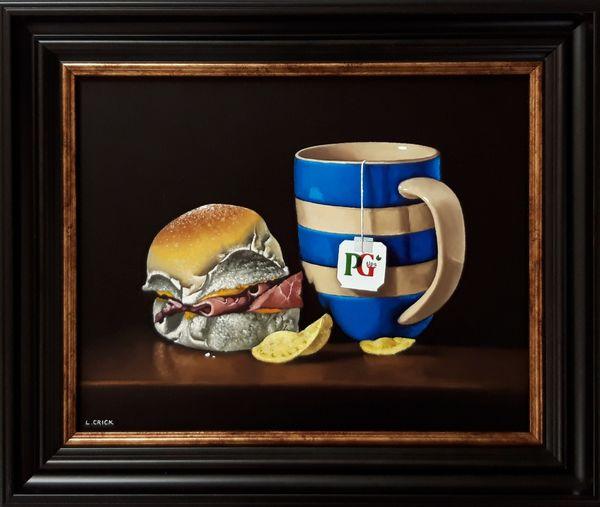 ham roll with mug of tea (sold)
