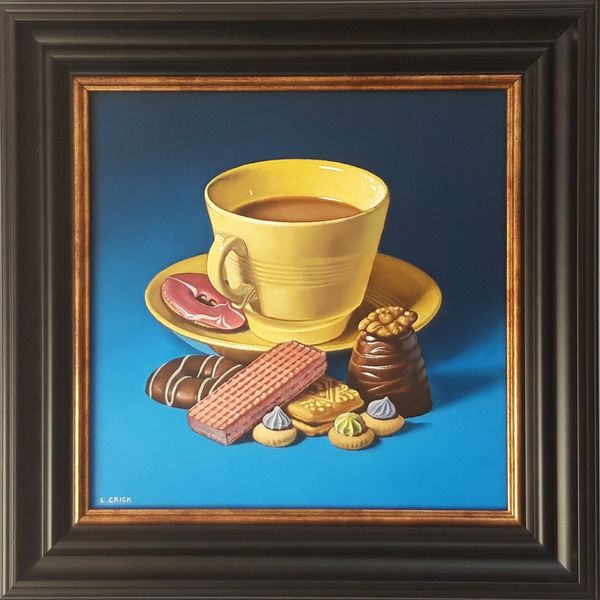 tea with biscuits and walnut whip (sold)