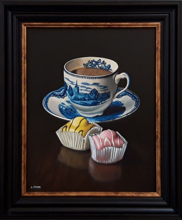 cup of tea with two cakes (sold)
