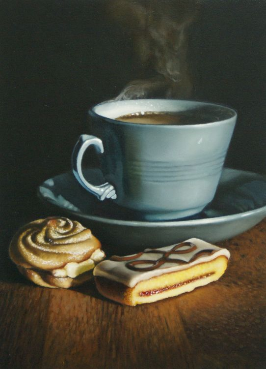 hot tea with cakes (sold)