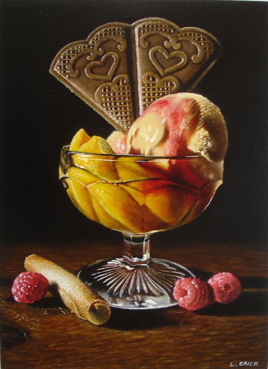 peaches and icecream (sold)
