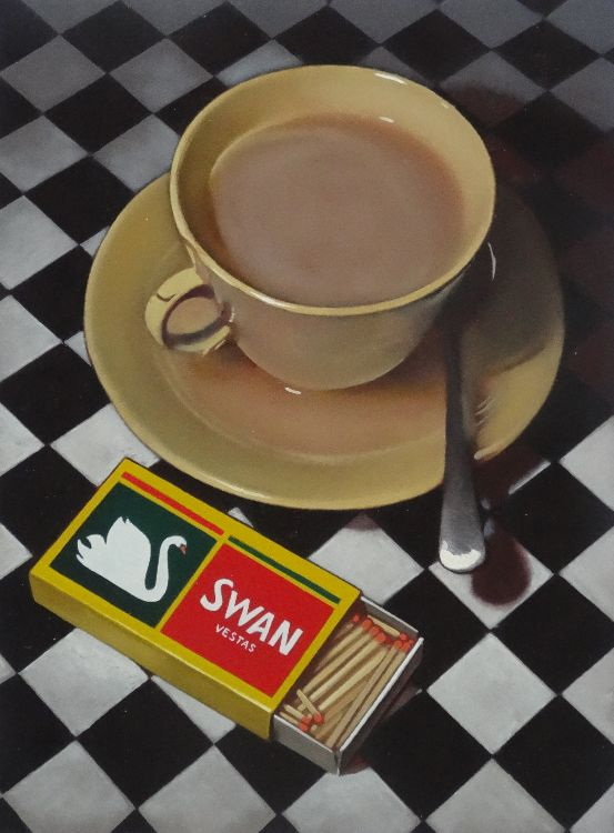 spilt tea and matches (sold)
